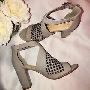 Shoes - NWOT Grey Miss Lola Heels